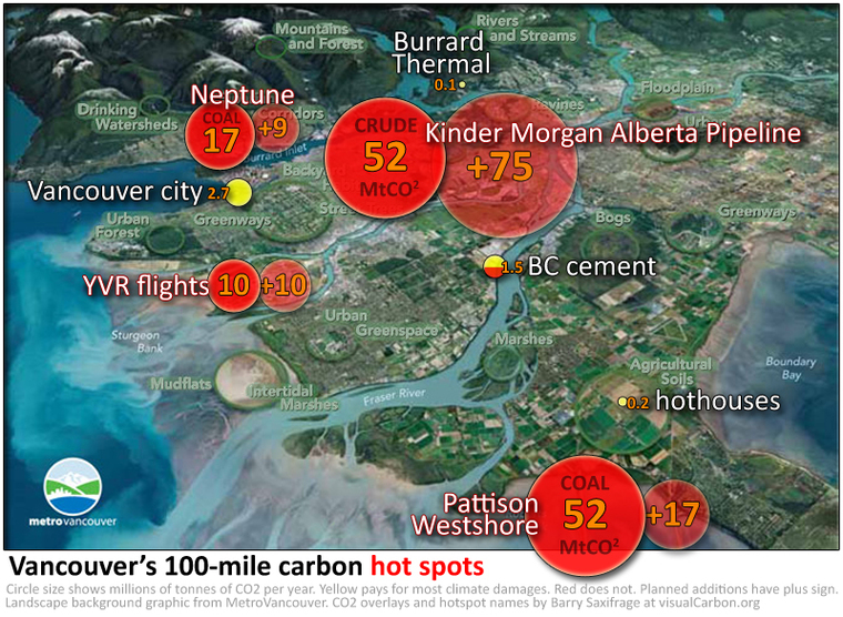 Vancouver's 100-mile carbon hot spots by Barry Saxifrage